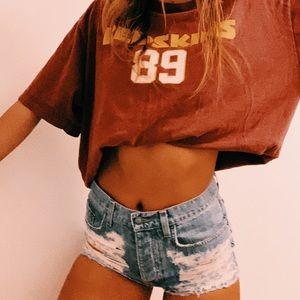 LF dipped jean shorts
